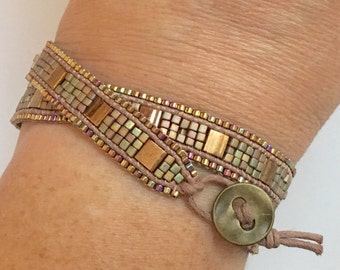 SUPPLY KIT ONLY- Cobblestone Bracelet- Tobacco Road Colorway