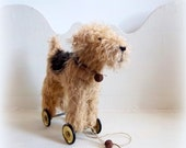Little Terrier on vintage Meccano wheels