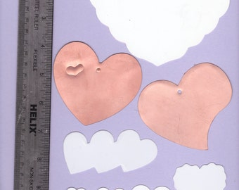 Heart shaped templates - 8 templates - card making, scrap booking, crafting