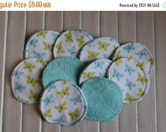 SALE 10% OFF Set of 12 Reusable Face Scrubbies, Facial Rounds, Make Up pads,Lotion Applicators, Infant Washies