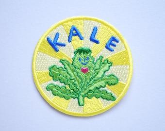 Kale Heart - Veggie love Iron On Patch