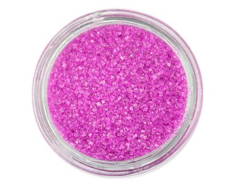Fuchsia Sanding Sugar - magenta sprinkles for decorating cupcakes, cakes, cakepops, and cookies