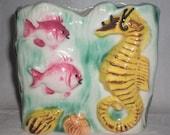 Tropical Fish and Sea Horse Ceramic Planter