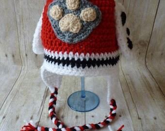 Custom Crochet Marshall Earflap Hat
