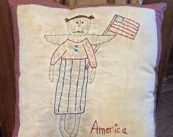 Americana Angel Stitchery E-Pattern