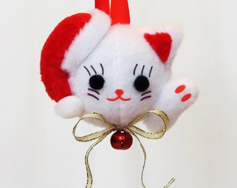 Lucky Cat Japanese Christmas Ornament