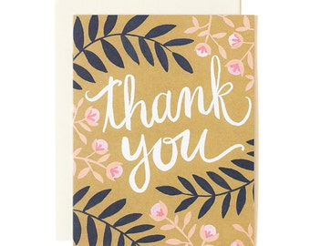 Thank You Fern Illustrated Card