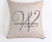Personalized Monogrammed Initial Wedding Gift Pillow Cover Pillow Case