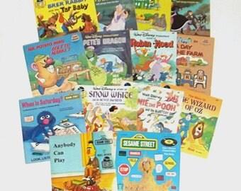 1970s children's records / 70s children's books / Disney / Children's Book and Record Sets