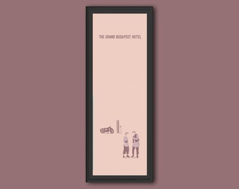 Grand Budapest Hotel framed limited edition 12x4 inches print