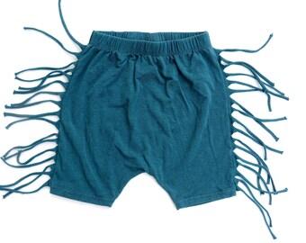 blue boys Fringe Shorts