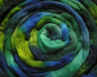 200g Space-Dyed Merino D' Arles Wool Top - Marine