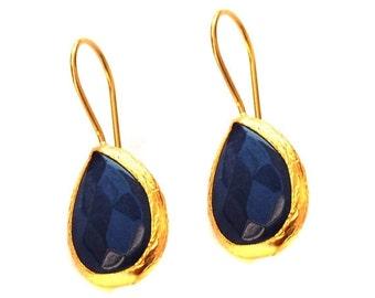 15% Discount Drop Blue Earrings