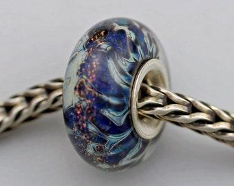 OOAKK Heavy Silver Veil Bead - European Charm Bracelet Bead (OCT-22)