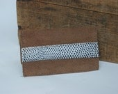 Light Brown Leather Business Card Holder OOAK By Binding Bee