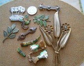 9pc junk jewelry and supplies destash lot - jewelry making supplies, vintage jewelry pieces, artist supplies