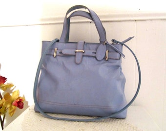 Rolfs genuine leather bag Robin-egg blue color handbag shoulderbag