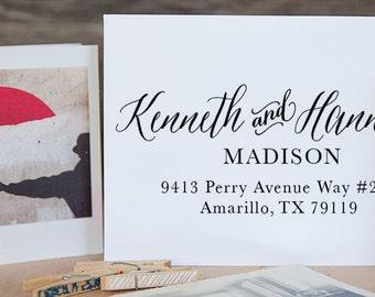 Wedding Stamp, Self Inking Address Stamp, Address Stamp, Custom Address Stamp, Return Address Stamp, Christmas Gift - 1001
