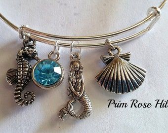 MERMAID DREAMS adjustable bracelet with charms