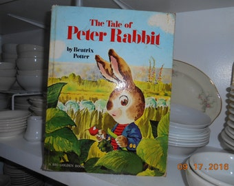 1973 The Tale of Peter Rabbit by Beatrix Potter A Big Golden Book