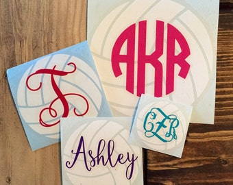 Volleyball Monogram Decal
