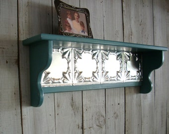 Turquoise Wall Mounted Picture Shelf