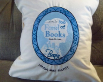 Louisa May Alcott  Embroidered Pillow