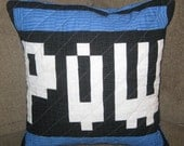 POW Quilted Pillow Cover - Blue - free shipping