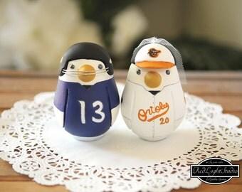 Sport Team Wedding Cake Topper - Medium Love Birds