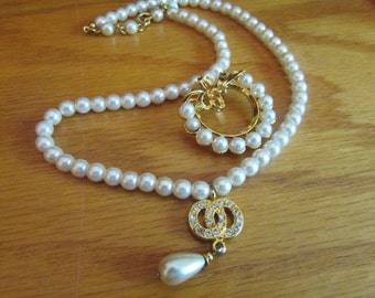 circle pearl jewelry