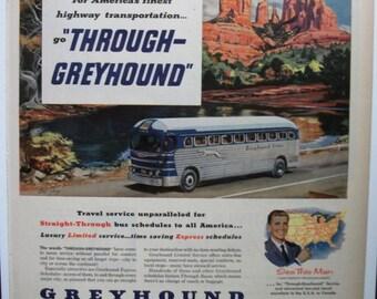 """Trav-B ... 115   """"Greyhound Lines ...""""  Magazine Ad - November 1952"""
