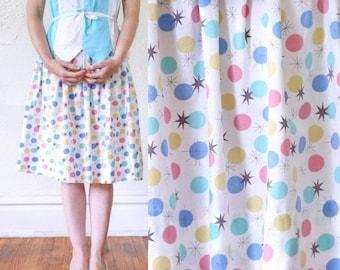 ON SALE ATOMIC Print Skirt . 1950s