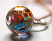 Hand Blown Glass // Colored Glass // Hand Blown // Pendant With Leather Cord
