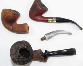 3 Smoking Pipes Karl Erik Alpha Erik Nording Denmark