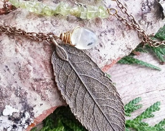 Tree Whisperer - woodland nature leaf necklace