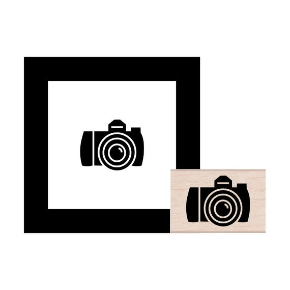 DSLR Camera Rubber Stamp