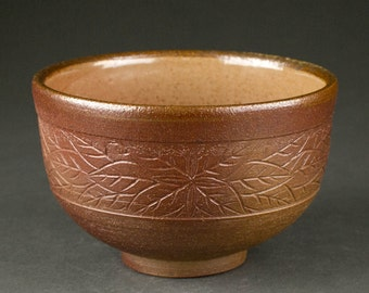 Salt-Fired Japanese Tea Bowl (matcha chawan)