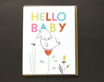 Greeting card - hello baby - newborn