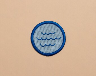 Iron-on Waves Patch