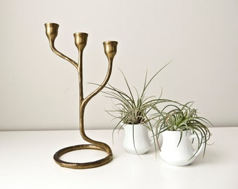 Modern Solid Brass Candlestick Candelabra Candle Holder
