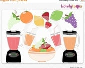 SALE Fruit juice blender, friut bowl clip art, digital PNG clipart (026)
