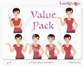 Character value pack, woman avatar digital PNG clipart (Erin VP13)