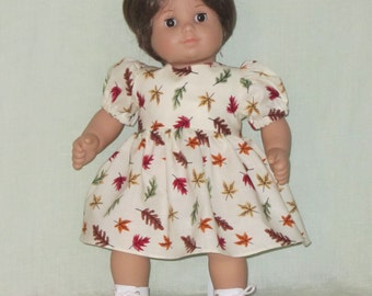 American Girl Bitty Baby Doll or Cabbage Patch Dress Fall Leaves