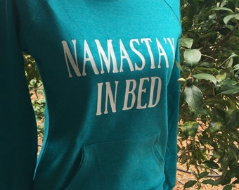 Namatay in Bed Sweatshirt in Blue with white writing