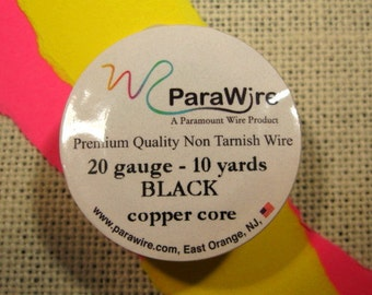 Black 20 Gauge Wire from ParaWire - 10 yards