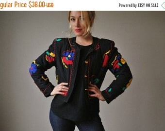 ON SALE 1990s Quilted Silk Jacket~Size Medium
