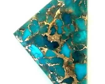 Blue Mojave Turquoise and Bronze Triangle Cabochon
