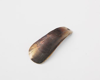 Bronze Shoehorn Keychain, Pocket Sized, Hand Forged From Stainless Steel