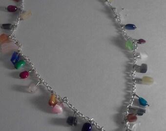 Handmade Fun Rock Candy Bead Chip Necklace