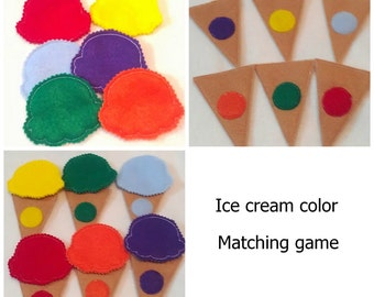 Color matching game - toddler learning activity for busy bags - kids learning toy - educational quiet game - home schooling #3819